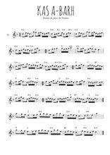 Téléchargez la partition de la musique bretagne-ka-a-barh en PDF, pour flûte traversière