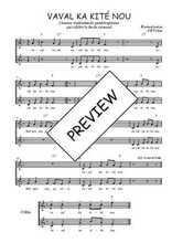 Téléchargez l'arrangement de la partition de Traditionnel-Vaval-ka-kite-nou en PDF à deux voix