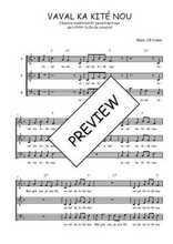 Téléchargez l'arrangement de la partition de Traditionnel-Vaval-ka-kite-nou en PDF à trois voix