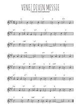 Téléchargez la partition en Sib de la musique noel-venez-divin-messie en PDF