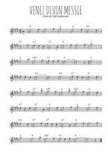 Téléchargez la partition pour saxophone en Mib de la musique noel-venez-divin-messie en PDF