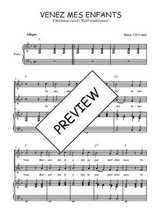 Téléchargez la partition de Venez mes enfants en PDF pour 2 voix égales et piano