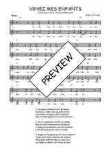 Téléchargez l'arrangement de la partition de noel-venez-mes-enfants en PDF à deux voix