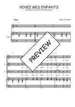 Téléchargez la partition de Venez mes enfants en PDF pour 3 voix SAB et piano