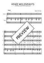 Téléchargez la partition de Venez mes enfants en PDF pour 4 voix SATB et piano