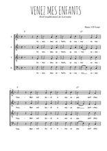 Téléchargez l'arrangement de la partition de noel-venez-mes-enfants en PDF à quatre voix