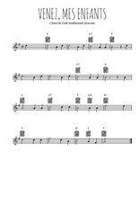 Téléchargez la partition en Sib de la musique noel-venez-mes-enfants en PDF