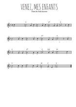 Téléchargez la partition de la musique noel-venez-mes-enfants en PDF, pour flûte traversière