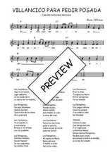 Téléchargez l'arrangement de la partition de Traditionnel-Villancico-para-pedir-posada en PDF à deux voix