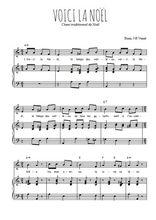 Téléchargez la partition de Voici la Noël en PDF pour Chant et piano