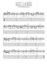 Téléchargez la tablature de la musique Traditionnel-Voici-la-Noel en PDF