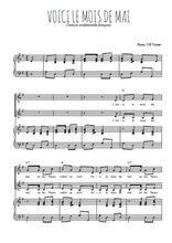 Téléchargez la partition de Voici le mois de mai en PDF pour 2 voix égales et piano