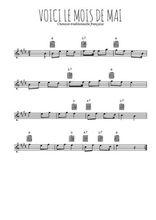 Téléchargez la partition pour saxophone en Mib de la musique voici-le-mois-de-mai en PDF