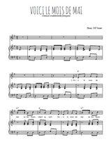 Téléchargez la partition de Voici le mois de mai en PDF pour Chant et piano