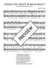 Téléchargez l'arrangement de la partition de Traditionnel-Voisin-d-ou-venait-ce-grand-bruit en PDF à deux voix