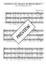 Téléchargez l'arrangement de la partition de Traditionnel-Voisin-d-ou-venait-ce-grand-bruit en PDF à trois voix