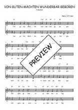 Téléchargez l'arrangement de la partition de Traditionnel-Von-guten-Machten-wunderbar-geboren en PDF à deux voix