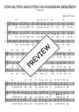 Téléchargez l'arrangement de la partition de Traditionnel-Von-guten-Machten-wunderbar-geboren en PDF à trois voix
