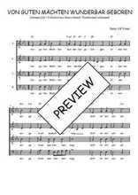 Téléchargez l'arrangement de la partition de Traditionnel-Von-guten-Machten-wunderbar-geboren en PDF à quatre voix