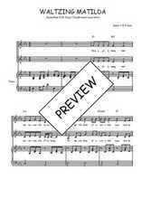 Téléchargez la partition de Waltzing Matilda en PDF pour 2 voix égales et piano