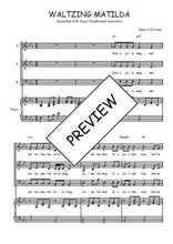 Téléchargez la partition de Waltzing Matilda en PDF pour 3 voix SAB et piano