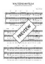 Téléchargez l'arrangement de la partition de australie-waltzing-matilda en PDF à trois voix
