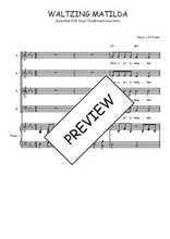 Téléchargez la partition de Waltzing Matilda en PDF pour 4 voix SATB et piano