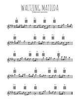 Téléchargez la partition pour saxophone en Mib de la musique australie-waltzing-matilda en PDF
