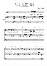 Téléchargez la partition de Waltzing Matilda en PDF pour Chant et piano