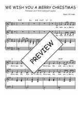 Téléchargez la partition de We wish you a merry christmas en PDF pour 2 voix égales et piano