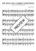 Téléchargez l'arrangement de la partition de noel-we-wish-you-a-merry-christmas en PDF à deux voix