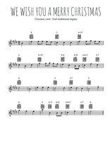 Téléchargez la partition pour saxophone en Mib de la musique noel-we-wish-you-a-merry-christmas en PDF