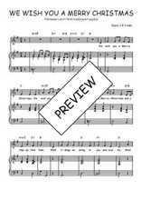 Téléchargez la partition de We wish you a merry christmas en PDF pour Chant et piano