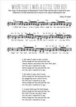 Téléchargez l'arrangement de la partition de Traditionnel-When-that-I-was-a-little-tiny-boy en PDF à deux voix