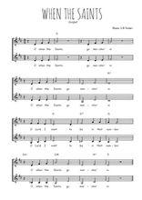 Téléchargez l'arrangement de la partition de spirituel-when-the-saints en PDF à deux voix
