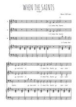 Téléchargez la partition de Oh when the saints en PDF pour 3 voix SAB et piano