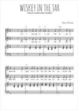 Téléchargez la partition de Whiskey in the jar en PDF pour 2 voix égales et piano