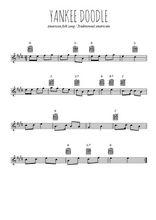 Téléchargez la partition pour saxophone en Mib de la musique usa-yankee-doodle en PDF