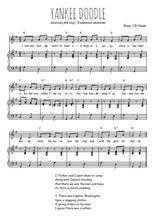 Téléchargez la partition de Yankee Doodle en PDF pour Chant et piano